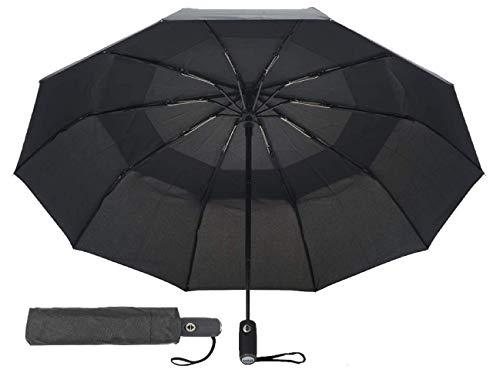 Windproof Nylon Umbrella (tatji Travel Umbrella- Windproof, Compact, Reinforced Double Canopy, Auto Open/Close, 10 Ribs, 210T Teflon Fabric)