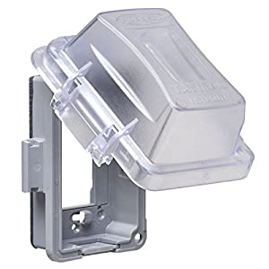 TayMac MM420C Single Gang Non-Metallic Weatherproof In-Use Cover, Clear