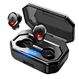 Nanle Wireless Bluetooth Earbuds Headphones 90H Playtime Deep Bass HiFi 3D Stereo Premium Noise canceling Headphones, Built-in Mic for Running Sport