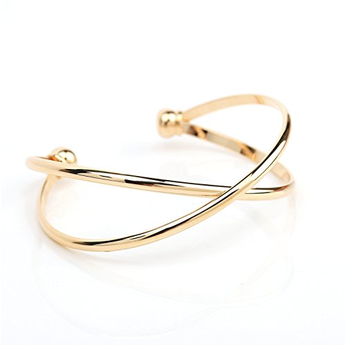 2a377308dd30a8 United Elegance Trendy Gold Tone Designer Infinity Bangle Bracelet (220054)