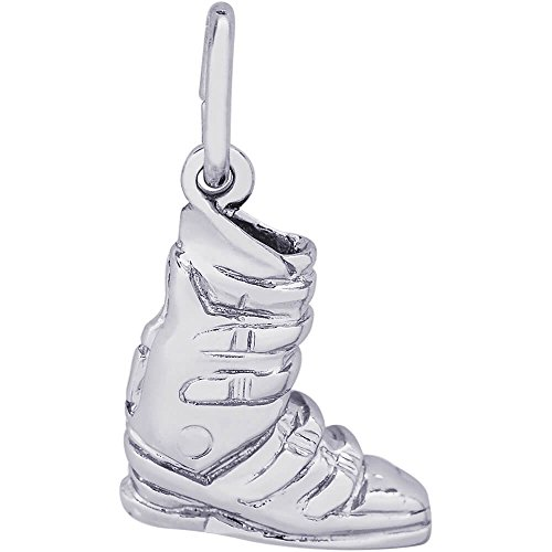 Rembrandt Charms Ski Boot Charm, 14K White Gold by Rembrandt Charms