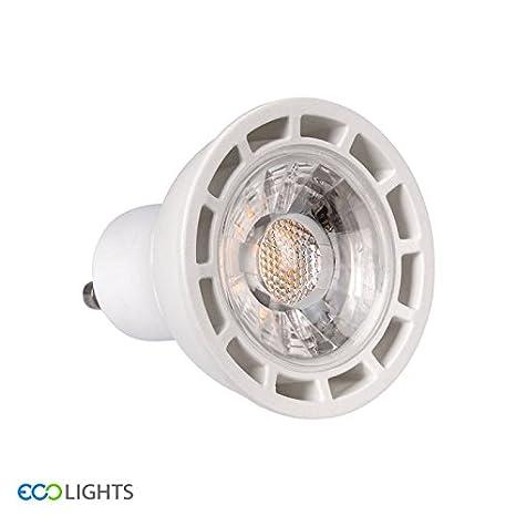 Eco luces LED bombilla, plástico térmico, GU10, 50 W, color blanco cálido, Pack de 4: Amazon.es: Iluminación