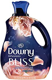 Downy Infusions Fabric Softener Liquid, Bliss, Sparkling Amber & Rose, 2.4 L - Packaging May