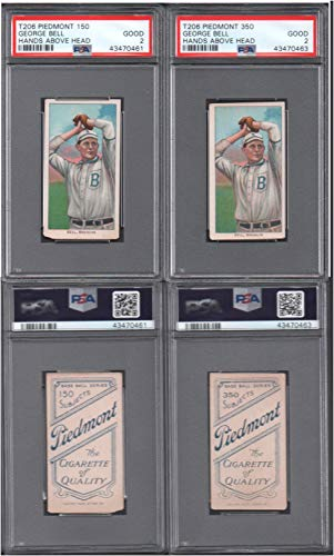 1909 t206 tobacco (baseball) card#30 psa george bell (hands above head (psa) of the brooklyn superbas Grade Good