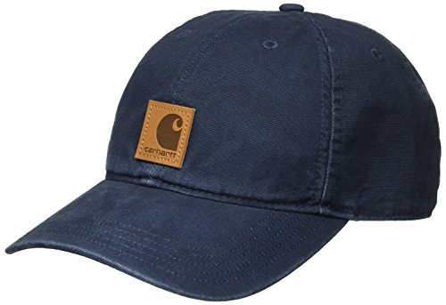 Happy Face Cap (Carhartt Men's Odessa Cotton Sandstone Cap, Navy OFA)