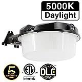 LED Area Light 42W Dusk to Dawn Street Light, Photocell Included, Commercial Lighting, Daylight 5000K, DLC & ETL Listed, Outdoor Security Light, Yard Light or Barn Light, 50K A1 1Pack