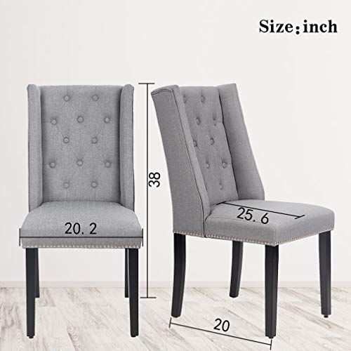 Kitchen Chairs (Set of 4) Dining Room Chairs Parsons Dining Chairs Side Chair for Restaurant Home Kitchen Living Room by PayLessHere (Image #6)