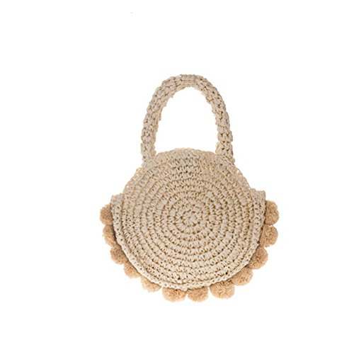 Summer And Beach Bag Travel Tote Crossbody Dyytr Straw Round Shoulder Wallet ZnwXz