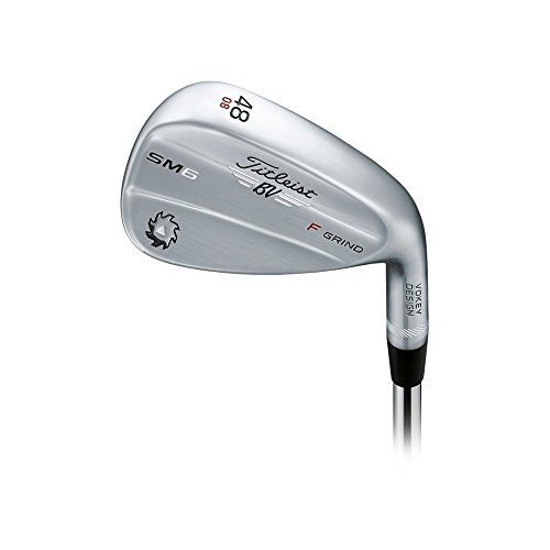 Titleist Vokey SM6 Tour Chrome Wedge Right 48 8 F Grind True Temper Dynamic Gold Wedge by Titleist