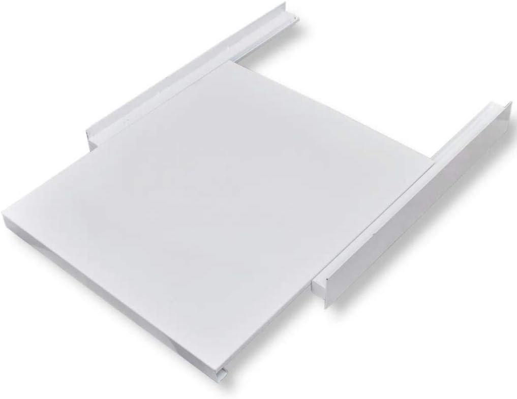 Wakects Accesorios para Secadora Universal de Servicio Pesado, Bandeja apiladora extraíble, Kit de apilamiento para Lavadora Secadora, 60 x 60 x 8 cm