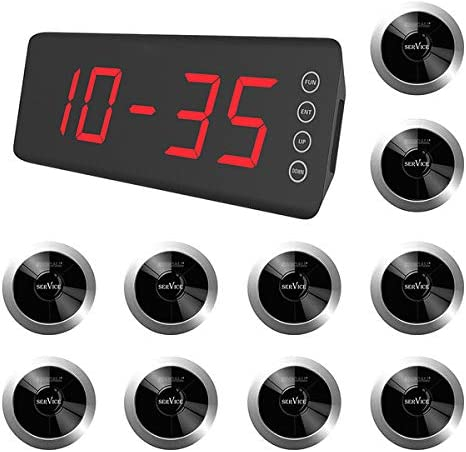 Singcall Home Pager Service Calling System Wireless Single Nurse Call Pager Pack Of 10 Pagers And 1 Receiver Amazon Ca Office Products
