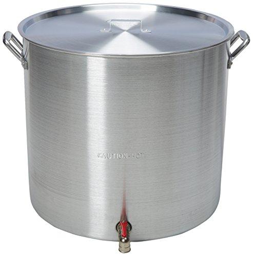 King Kooker KK160V Aluminum Boiling Pot, (160 Quart Stock Pot)