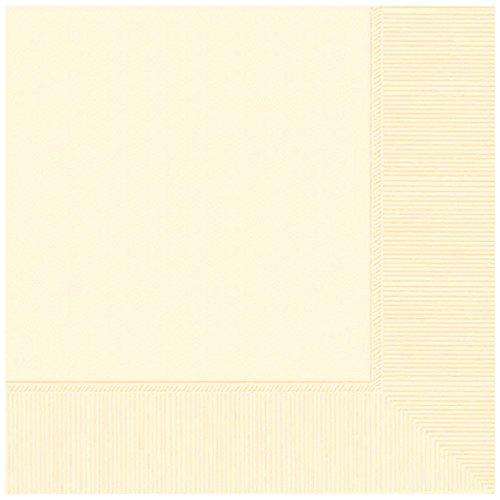 Amscan 52015.57 Party Supplies , Vanilla Crème, 240 Pieces (Creme Paper)