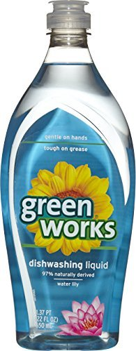 Lily Dish - Green Works Dishwashing Liquid, Water Lily, 22 Ounces by Greenworks
