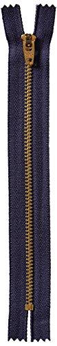 (COATS&CLARK F2706-013 Brass Jean Metal Zipper, 6