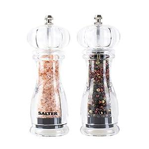 Salter 7606 CLXR Molinillo de cocina, plastico, Transparente