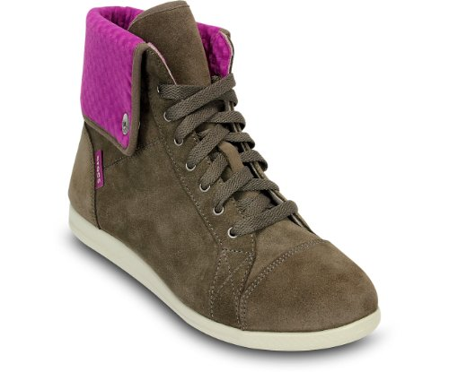 crocs Lopro Hi-top Sneaker - Botas de ante para mujer gris - Grau (Pewter/Viola)