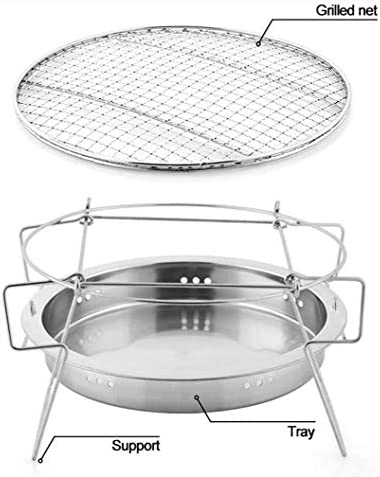 WXJHA Camping BBQ Grill Camping Portable Charbon extérieur Barbecue au Charbon Four pour Camping en Plein air Coffre-Fort Barbecue Accessoires