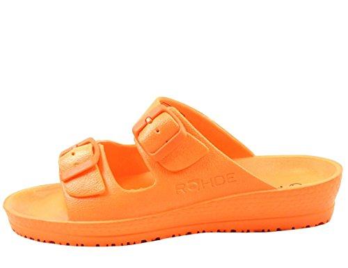 7101 Orange Spiaggia Mules Femme Rohde B5nqazwXvv