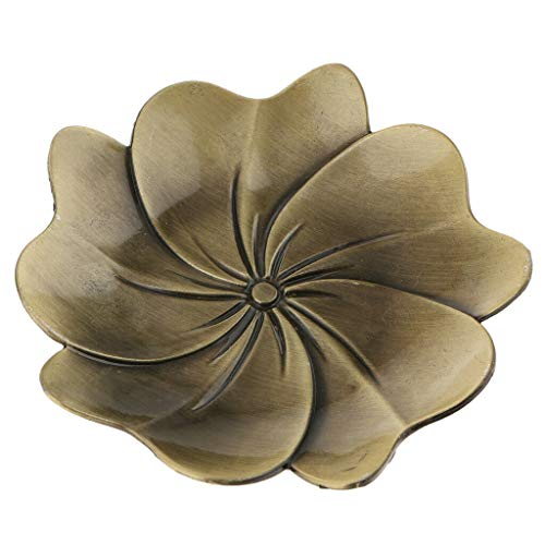 Blossom~Zinc Alloy Teacup Coaster Coffee Cup Mat for Kung Fu Tea (Color - Bronze)