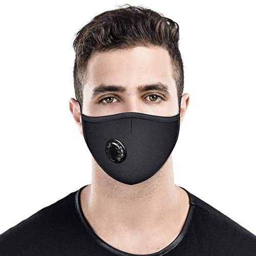 Anti Pollution Mask Air Pollution Dust Masks N95 Respirator Mask with 6 Filters Anti-Dust PM2.5 Smoke Gas and Allergies Adjustable...