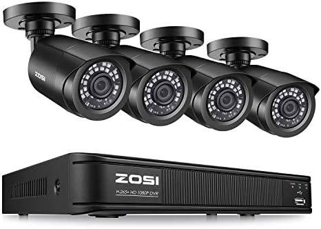 ZOSI H.265 1080p Home Security Camera System,8 Channel 5MP-Lite CCTV DVR