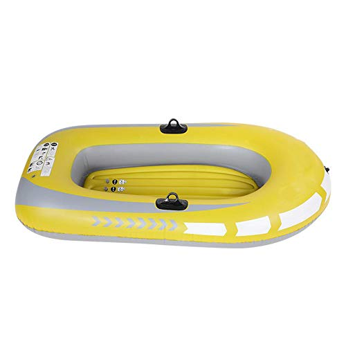 Mitrc Inflatable Kayak,Single Double Inflatable Boat PVC Plastic Boat Kayak Hovercraft Fishing Boat Paddle Aluminum Paddle