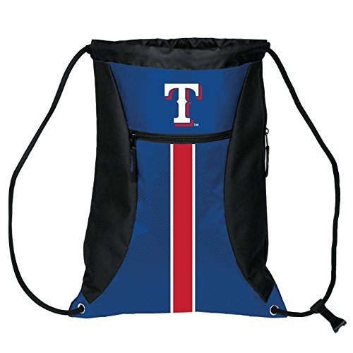 FOCO Texas Rangers Big Stripe Zipper Drawstring Backpack (Rangers Bag Texas)