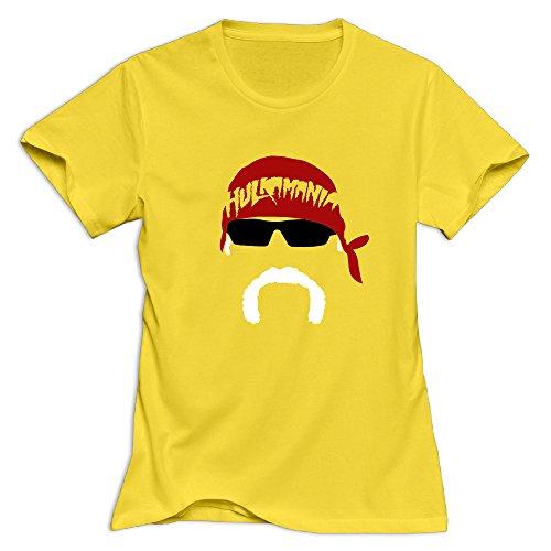 Ladies Hulk Hogan Wrestler Face Tshirts ()