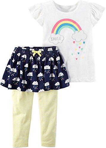 Carter's Baby Girls' 2 Piece Skirt Leggings Set 24 Months