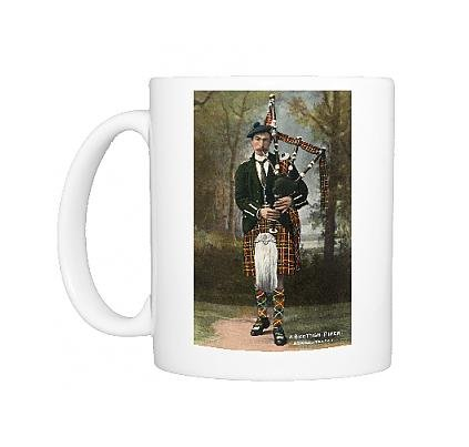 Photo Mug of A Scottish Piper wearing McInnes (Pipers Piping Costume)