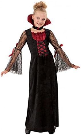 Carnaval - Disfraz de vampiresa para niña, talla 5-6 años: Amazon ...