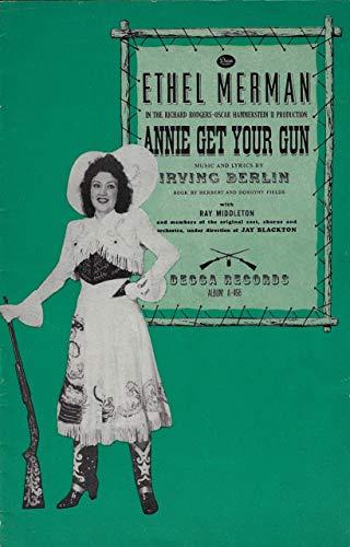 "Ethel Merman""ANNIE GET YOUR GUN"" Ray Middleton/Irving Berlin 1946 Decca Records Brochure"