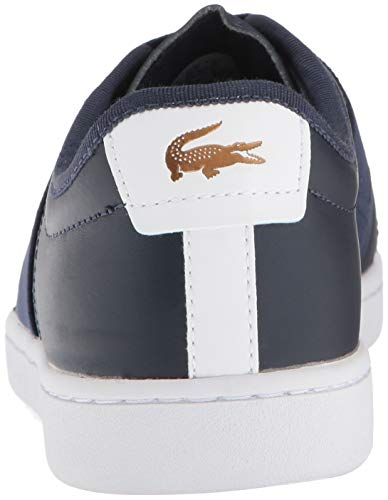 Women Leather Carnaby Lacoste White Navy gCwZxCY0q