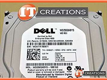 DELL WD2502ABYS-18B7A0 250GB SATA 7.2K 3GBPS ES 3.5 Hard Drive