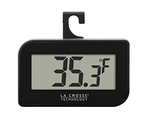 La Crosse Technology 314-152-B Digital Refrigerator-Freezer Thermometer with Hook
