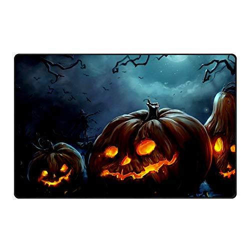 stahhn Funny Scary Halloween Pumpkin Doormat Decorative Floor Mat Kitchen,Bathroom Rug Non Slip 31x20 in