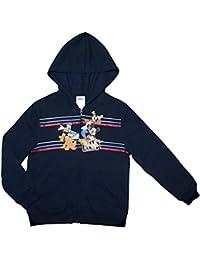 Hoodie Mickey Mouse Little Boys Navy Blue Hooded Zip up Fleece Sweatshirt