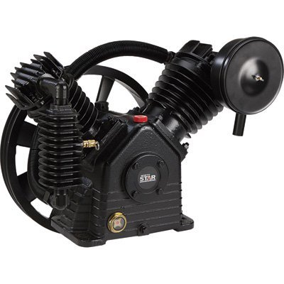 NorthStar Air Compressor Pump 2-Stage, 2-Cylinder, 24.4 CFM @ 90 PSI, 175 Max. PSI (Compressor Two Stage Accessories Air)