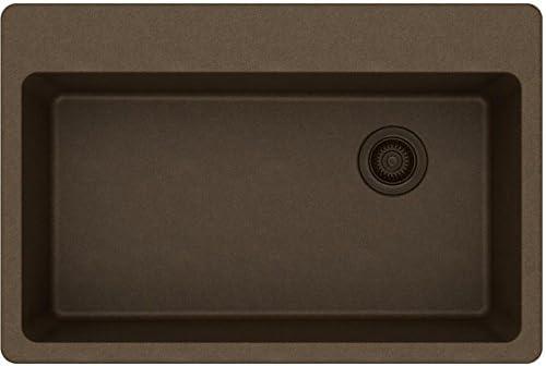 Elkay ELG13322MC0 Quartz Classic Mocha Single Bowl Drop-in Sink