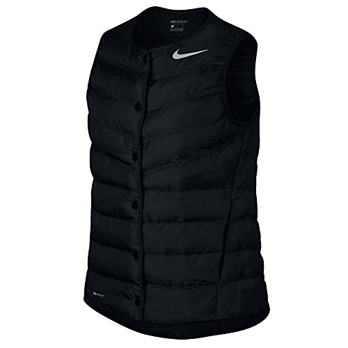 - NIKE AeroLoft Golf Vest 2017 Women Black/Metallic Silver Medium