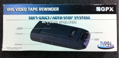 gpx vhs video rewinder automatic. saves vcr heads and motor. Auto-start/auto-stop system by GPX