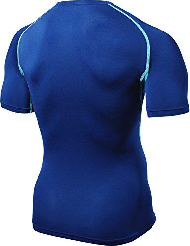 TM-R13-BLS_2X-Large Tesla New Men's Cool Compression short sleeve t shirts Quick Dry Running Sports Baselayer Underwear Underlayer Climbing Hiking Hunting Skin Clothe
