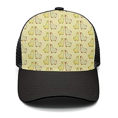 Casual Baseball Cap Adorable Love Pattern Adjustable Mesh Trucker Hat