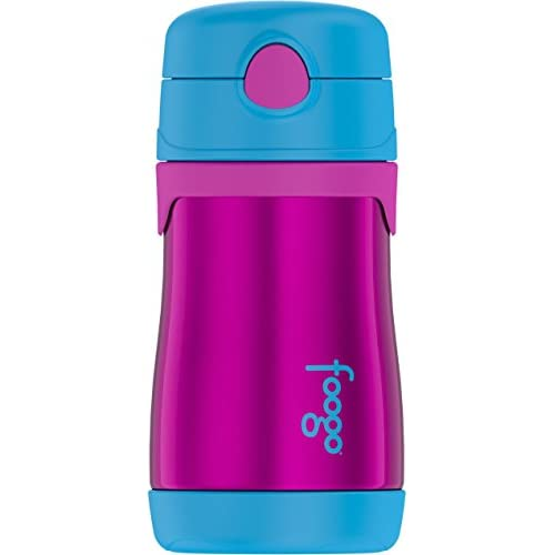Kid/'s Foogo Phases Insulated Stainless Steel Straw Water Bottle Thermos 10 oz