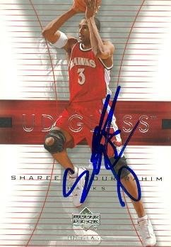 Shareef Abdur-Rahim autographed Basketball Card (Atlanta Hawks) 2004 Upper Deck Glass #1 - Basketball Autographed - Authentic 2004 Glasses
