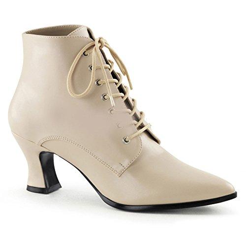 VIC-35 Size 8 Cream Victorian Ankle Boot Granny ()