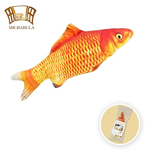 catnip toys, 3D Simulation Plush with replenish red carp toy,for cats/dogs(11.8 in)