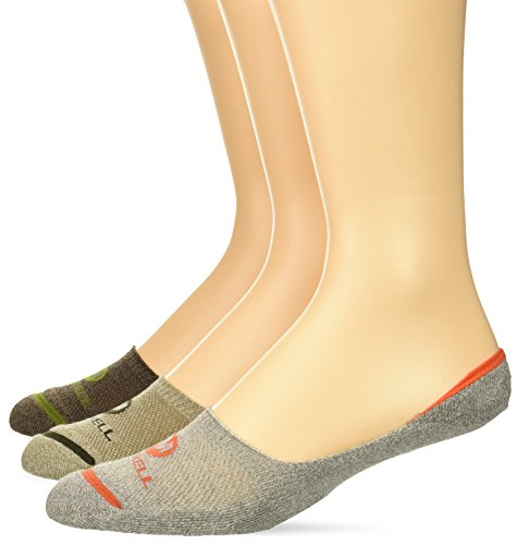 Merrell Men's 3 Pack Cushioned Trainer Performance Liner Socks, BRINDLE MARL ASSORTED, Shoe Size: 9.5-12