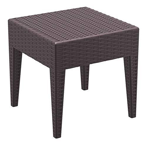 "Amazon.com: Miami Square resina de mesa auxiliar (18"" H ..."